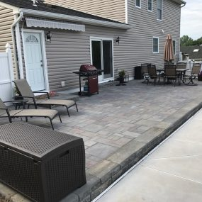 grey paver patio